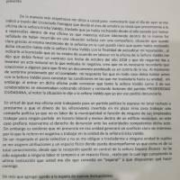 Carta que Iván Bobadilla envió a Recursos Humanos cuando era empleado.