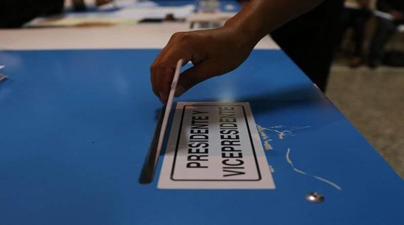 Proceso electoral en Guatemala. Foto: AFP