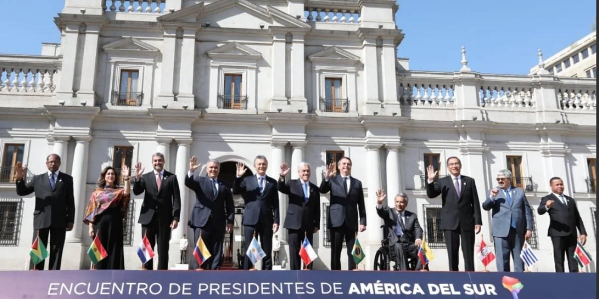 Prosur: Lenín Moreno asiste a la cumbre de presidentes de Suramérica que se realiza en Chile