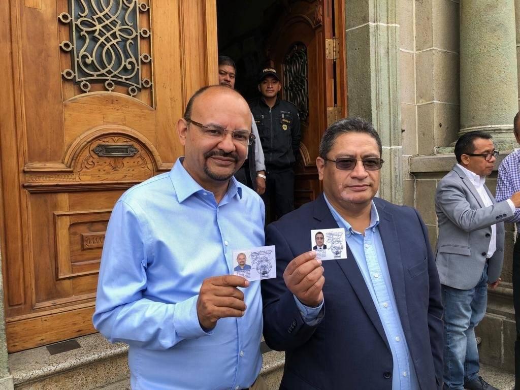 Manfredo Marroquín y Oscar Morales, binomio del partido Encuentro por Guatemala