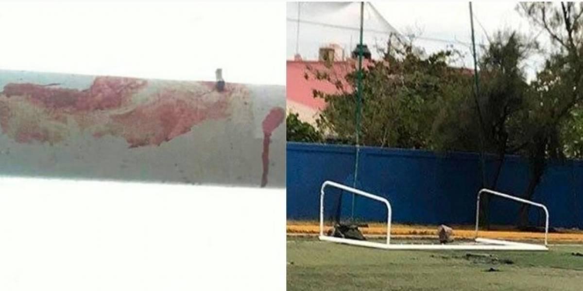 Muere niño mexicano al caerle una portería en la cabeza