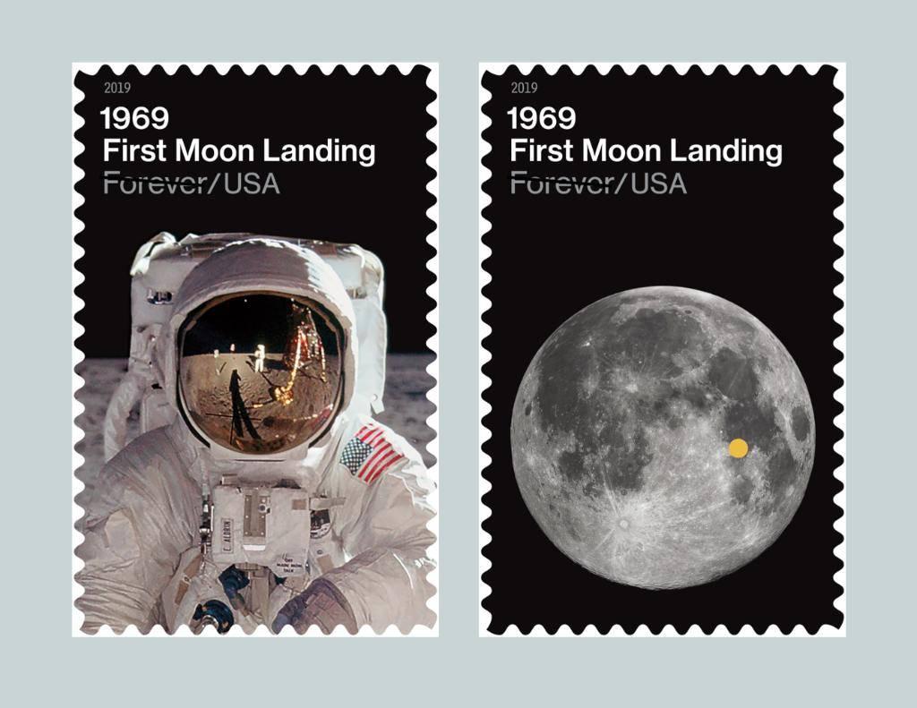 NASA celebrará los 50 años del hombre en la Luna con dos sellos postales en EEUU