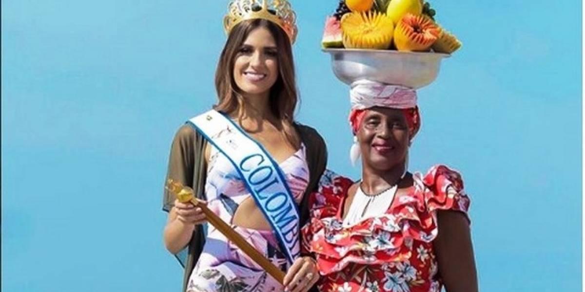 Imponen comparendo a famosa palenquera que posa con las reinas en Cartagena