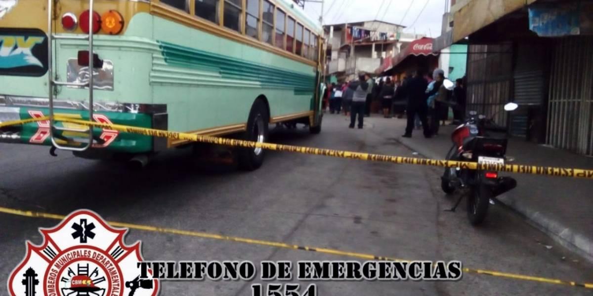 Piloto de bus muere tras ataque armado en Fraijanes