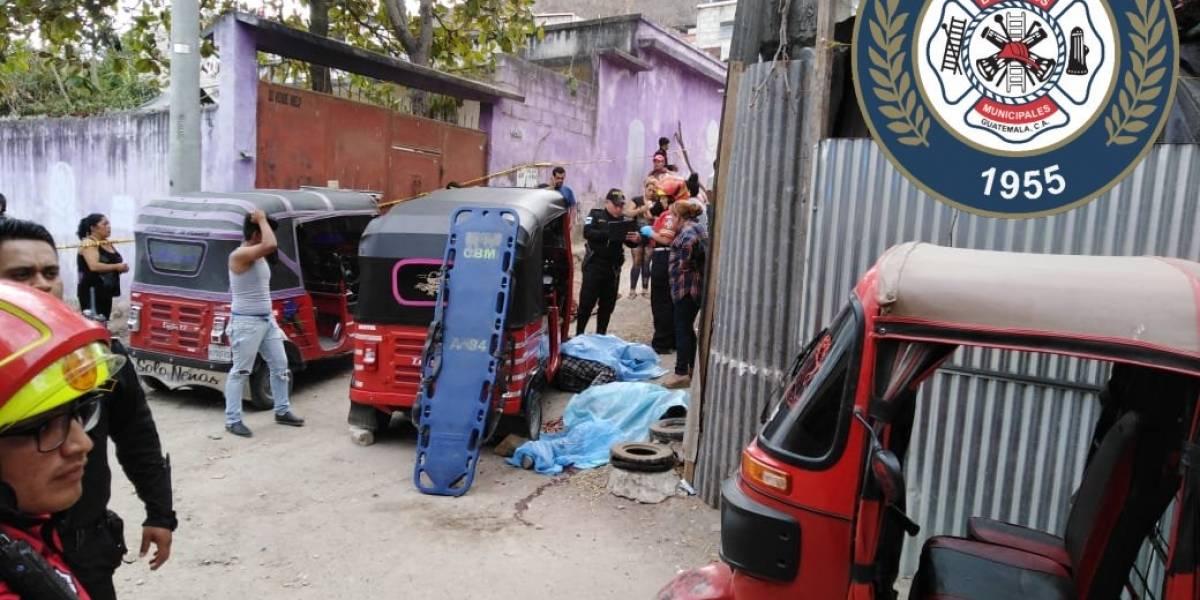Mueren tres conductores de mototaxi tras ataque armado en zona 18