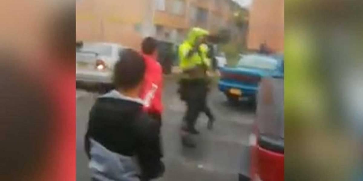 Policía de tránsito fue golpeado en medio de operativo en el sur de Bogotá