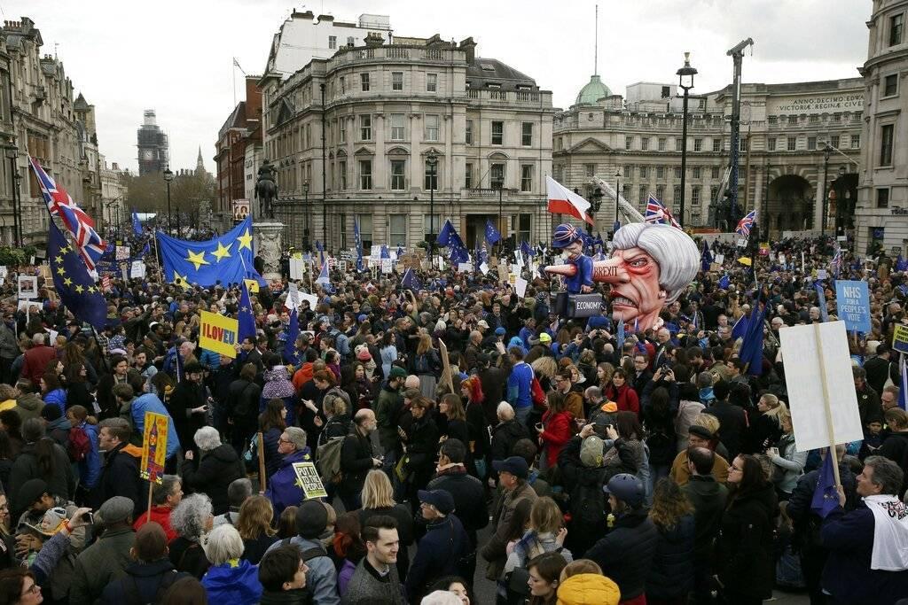 Manifestaciones en Londres por el Brexit Foto: AP