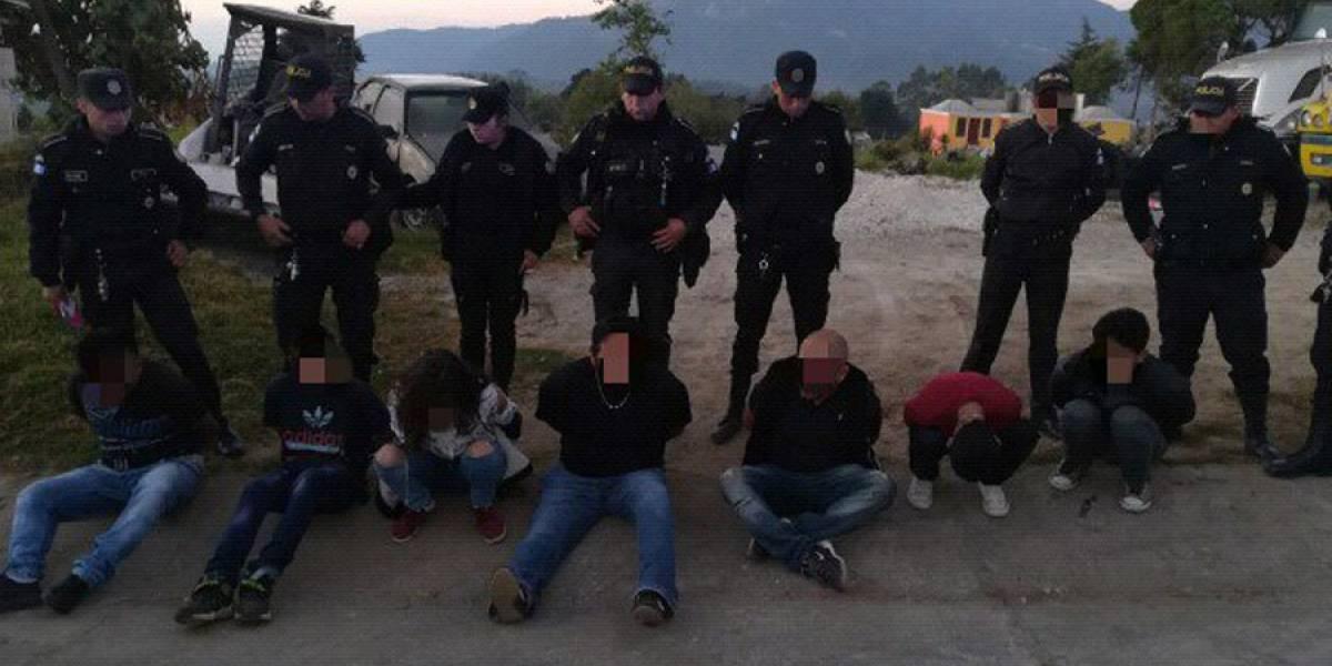 Capturan a banda de asaltantes en Palo Gordo, San Marcos
