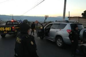 Banda de supuestos asaltantes fue desarticulada por la PNC en San Marcos.