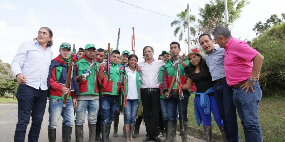 Petro reta a Duque desde el Cauca a visitar a los indígenas en protesta
