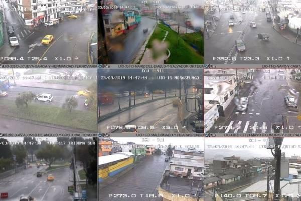 Fuertes lluvias en Quito se reportan este 23 de marzo