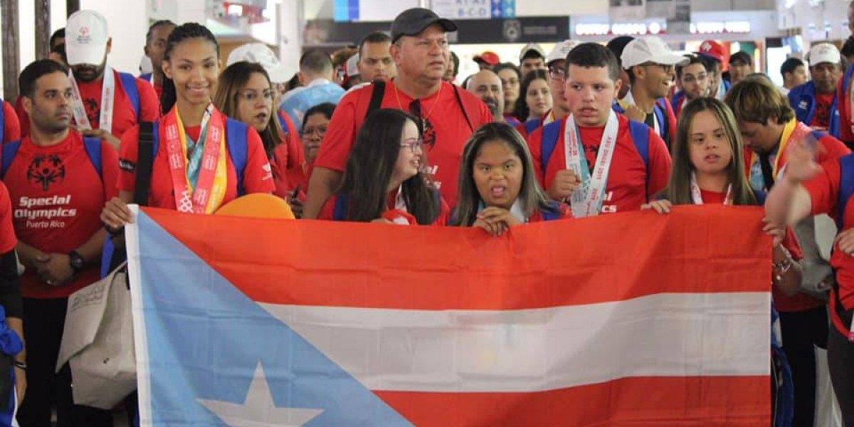 Regreso triunfante del equipo de Puerto Rico de las Olimpiadas Especiales