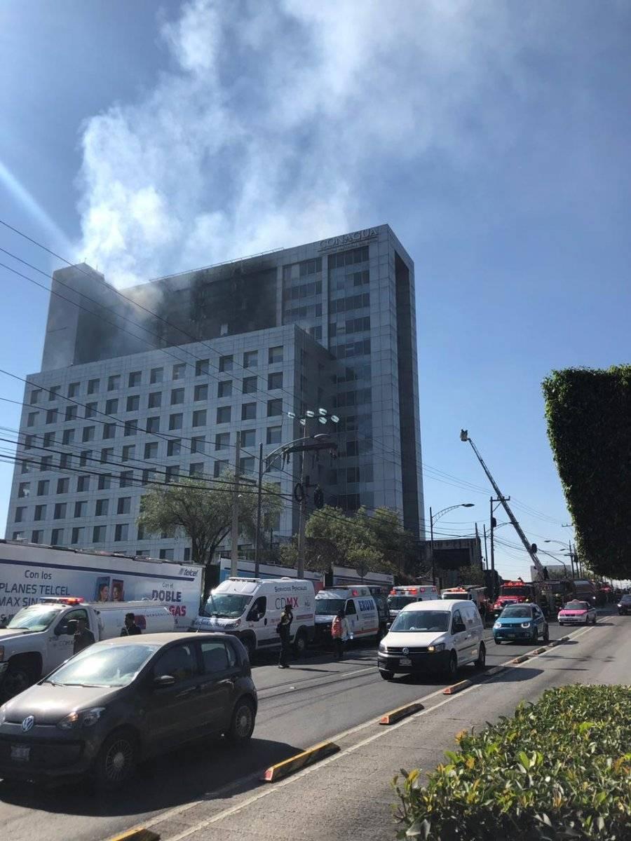 Incendio en las instalaciones de la Conagua Foto: Carmen Ortega
