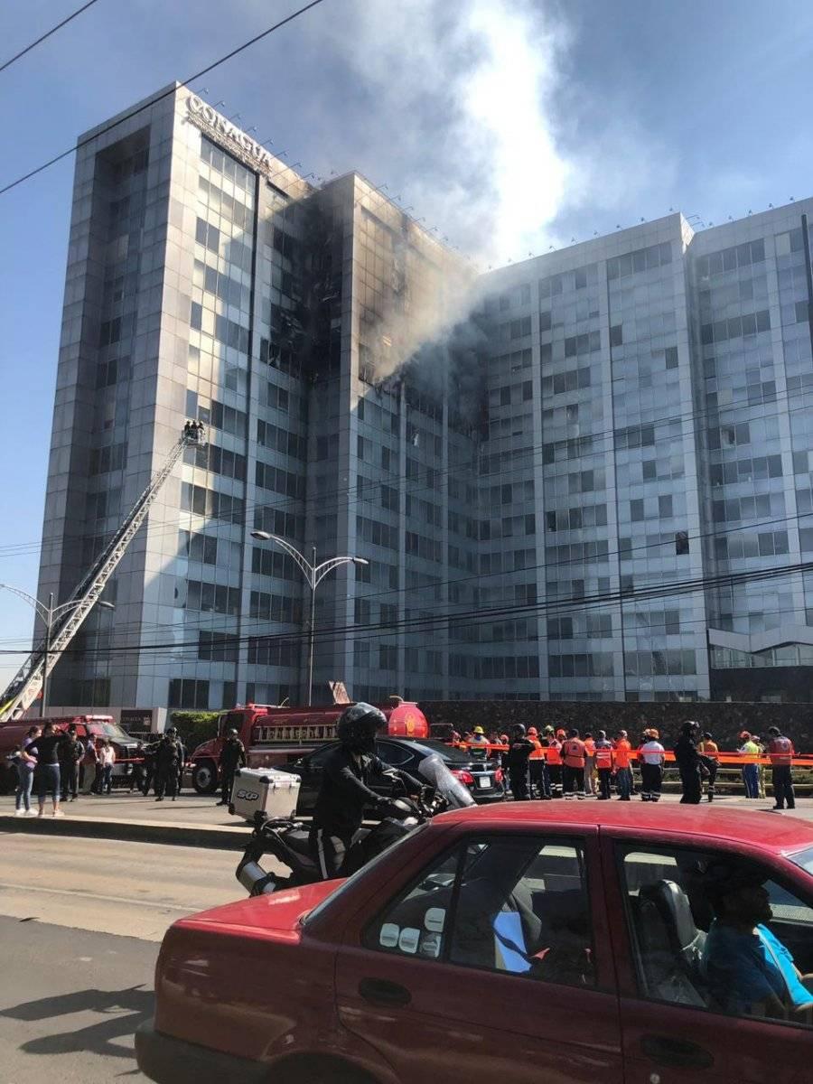 Incendio en las instalaciones de la Conagua, Foto: Carmen Ortega