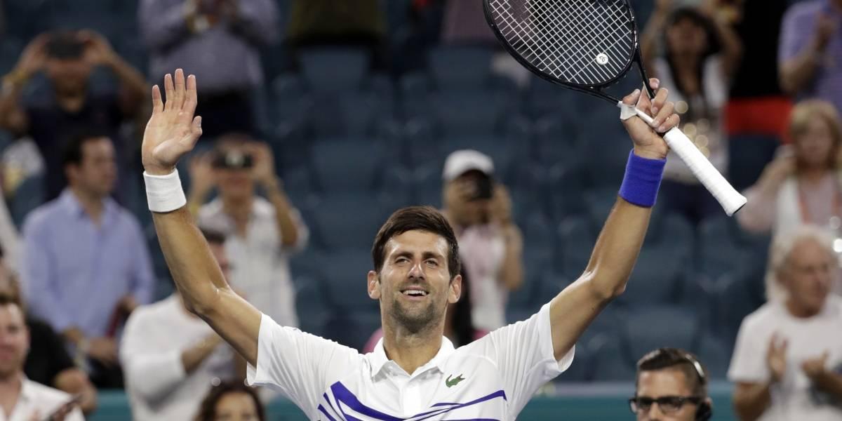 Djokovic avanza a 4ta ronda del Abierto de Miami