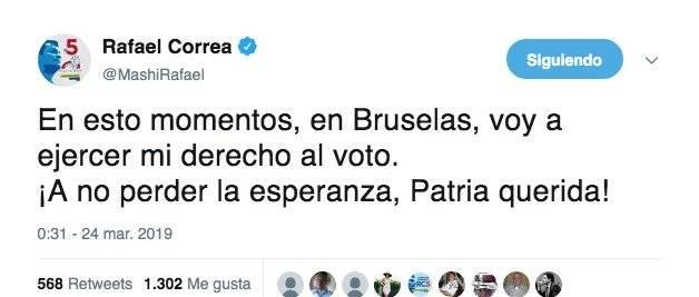 Correa voto 24 marzo