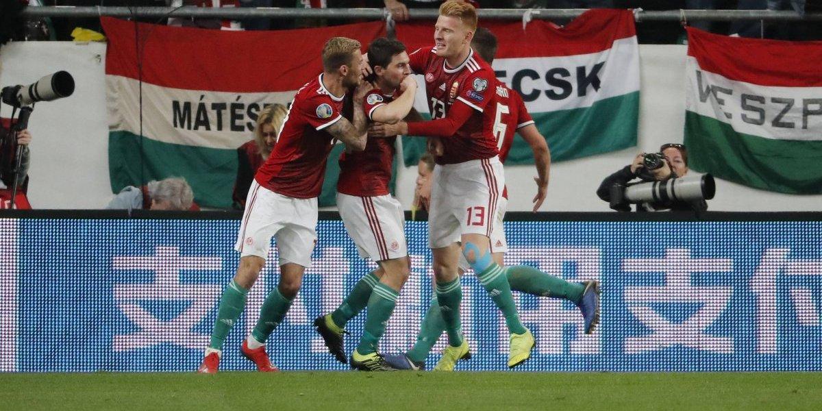 Hungría da la sorpresa y vence al actual subcampeón del mundo en las clasificatorias para la Euro 2020