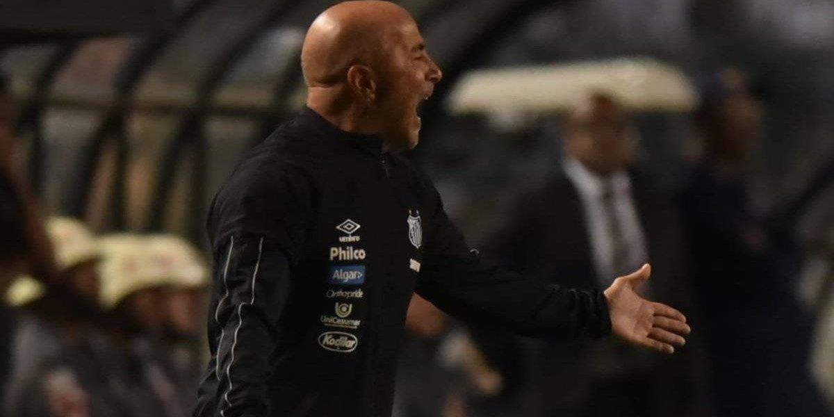 El día de furia de Jorge Sampaoli tras victoria de Santos