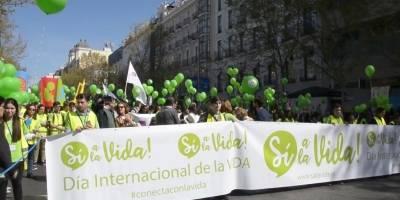 Macrcha antiaborto en Madrid