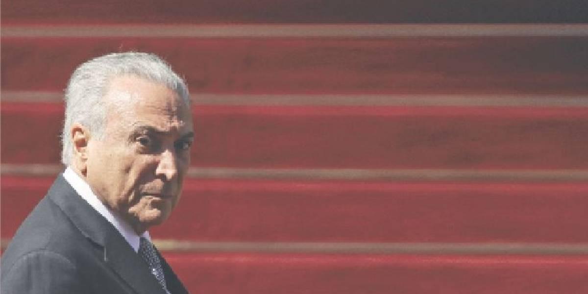 Temer pasa de presidente de Brasil a líder de una organización criminal