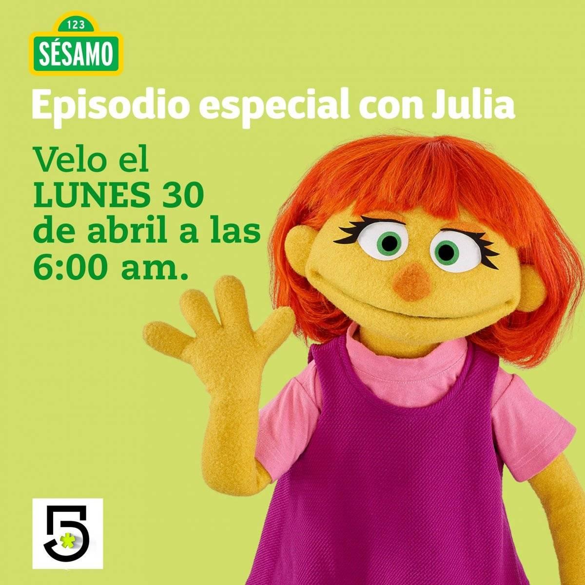 Es la primera muppet con autismo y es una niña de ojos verdes, amarilla y pelirroja que busca concientizar sobre este trastorno.