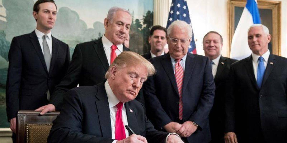 Donald Trump reconoce soberanía de Israel sobre los Altos del Golán