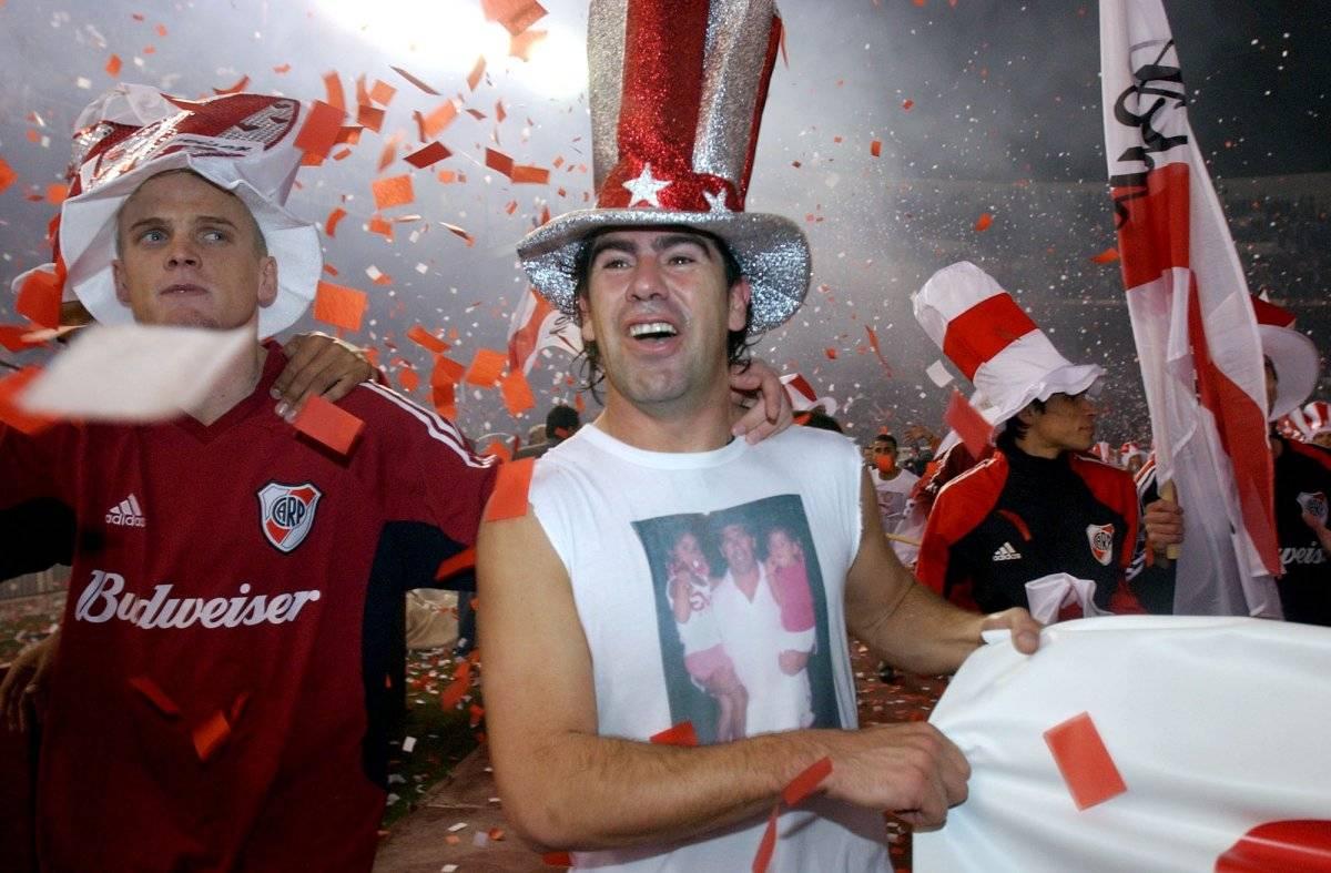 El Matador festejó con River Plate / imagen: AP