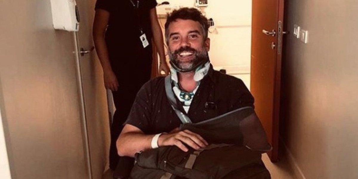 """Diego Muñoz tras ser dado de alta: """"Gracias infinitas a todas las personas que me salvaron la vida"""""""