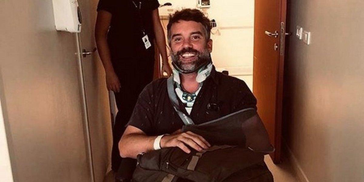 """Diego Muñoz tras accidente en moto: """"Estoy feliz de estar entre los vivos"""""""