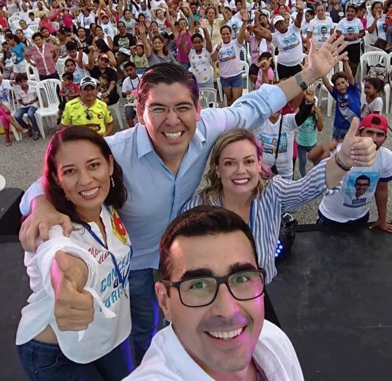 """En su mensaje compartido en Instagram, Guschmer agradeció a los ciudadanos por """"el cariño, confianza, y respaldo. El post estuvo acompañado del lema de campaña: """"Guayaquil Sigue""""."""