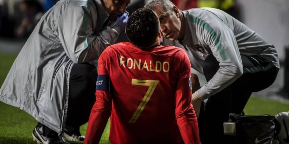 VIDEO. Este fue el momento en que Cristiano Ronaldo se lesiona