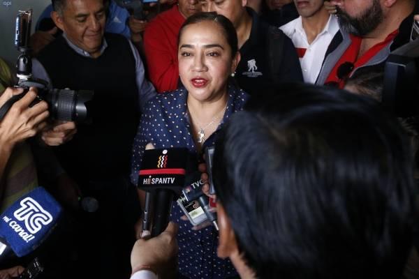 """Luisa Maldonado: """"No aceptamos los resultados electorales"""""""
