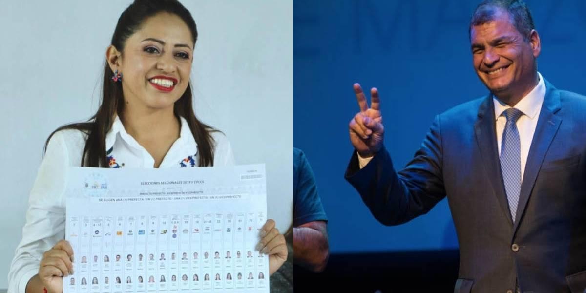 Elecciones 2019: Rafael Correa felicitó a Paola Pabón; obtuvo 23.15% de votos para la Prefectura de Pichincha