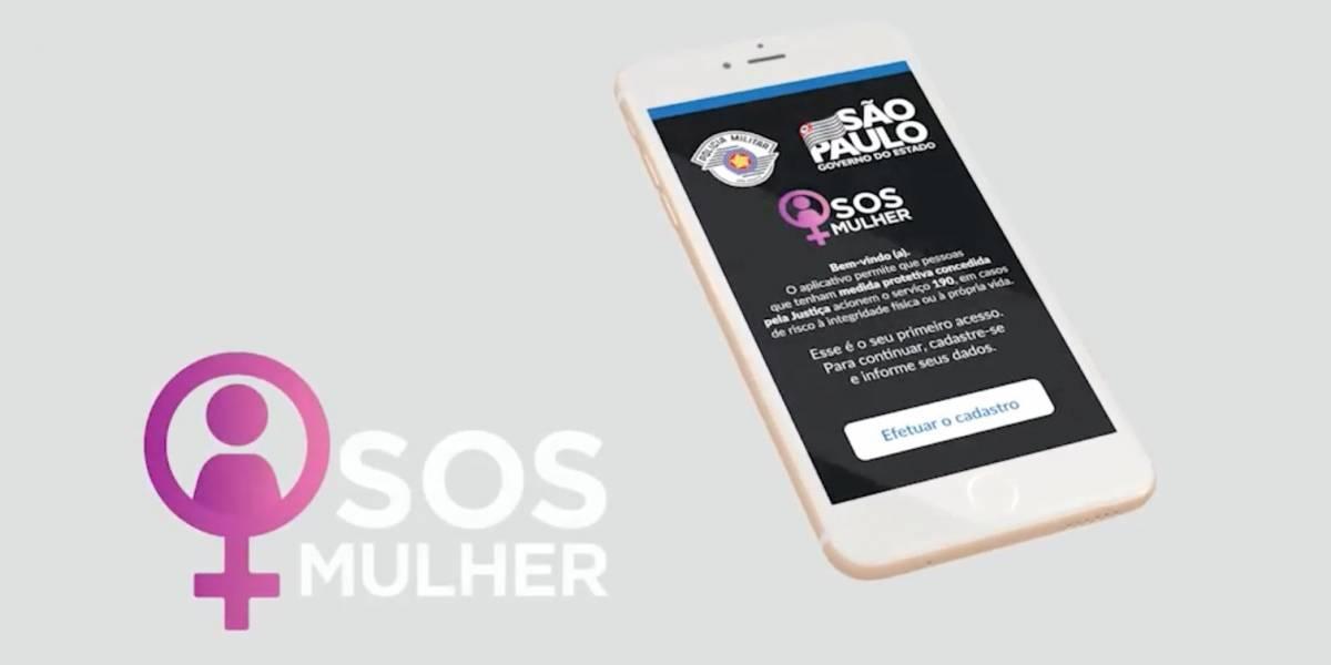 SOS Mulher: Estado de SP lança aplicativo que aciona a PM por um botão