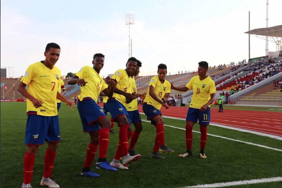 Ecuador Sub 17 remonta y clasifica a fase final del Sudamericano tras vencer por 3-2 a Chile