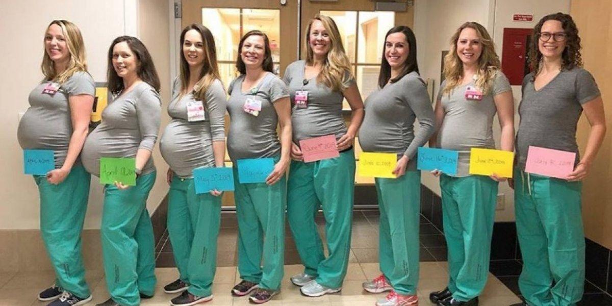 EEUU: Nueve enfermeras de sala de partos resultan embarazadas al mismo tiempo