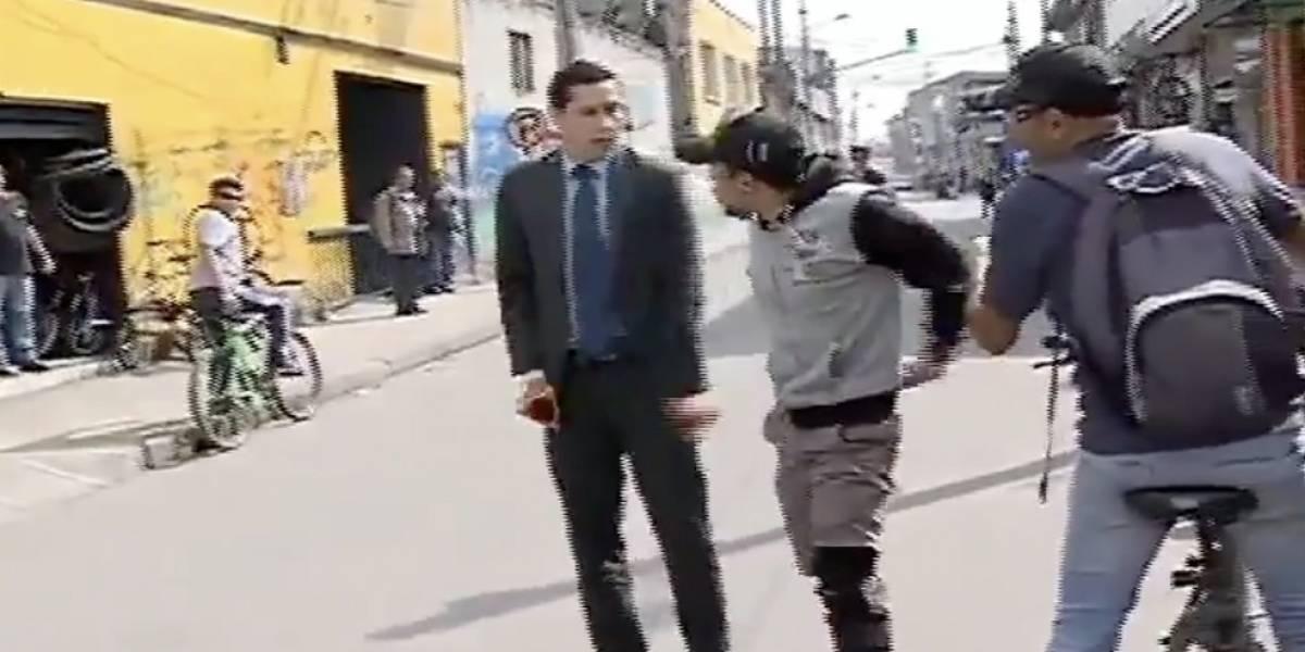 Periodistas de Citytv fueron amenazados mientras hacían un reportaje en Fontibón