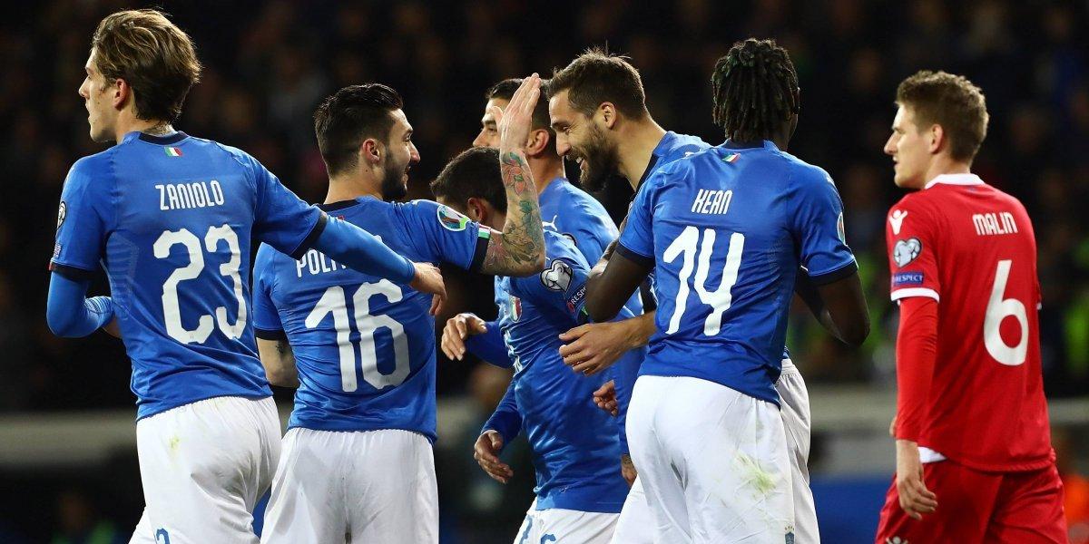 ¡De ensueño! Italia golea a Liechtenstein rumbo a la Euro 2020