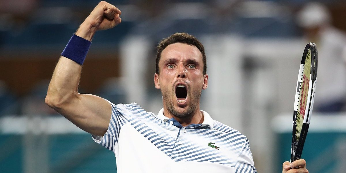 Roberto Bautista dio la sorpresa y eliminó a Djokovic en el Masters 1000 de Miami