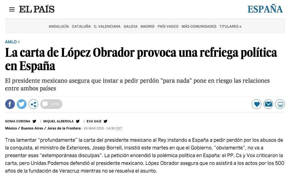Nota El País