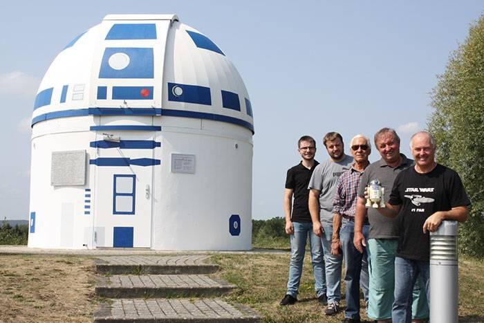 Ver para creer: alguien convirtió un observatorio en un R2-D2 gigante
