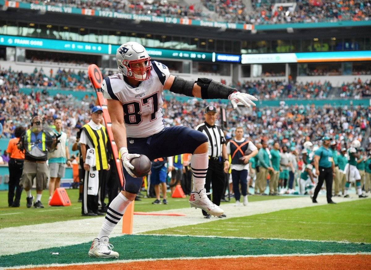 Gronkowski fue una de las máximas figuras de los últimos títulos de los Patriots |GETTY IMAGES