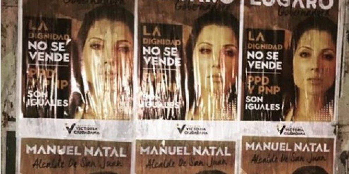 San Juan amanece con pasquines de Natal y Lúgaro para elecciones 2020