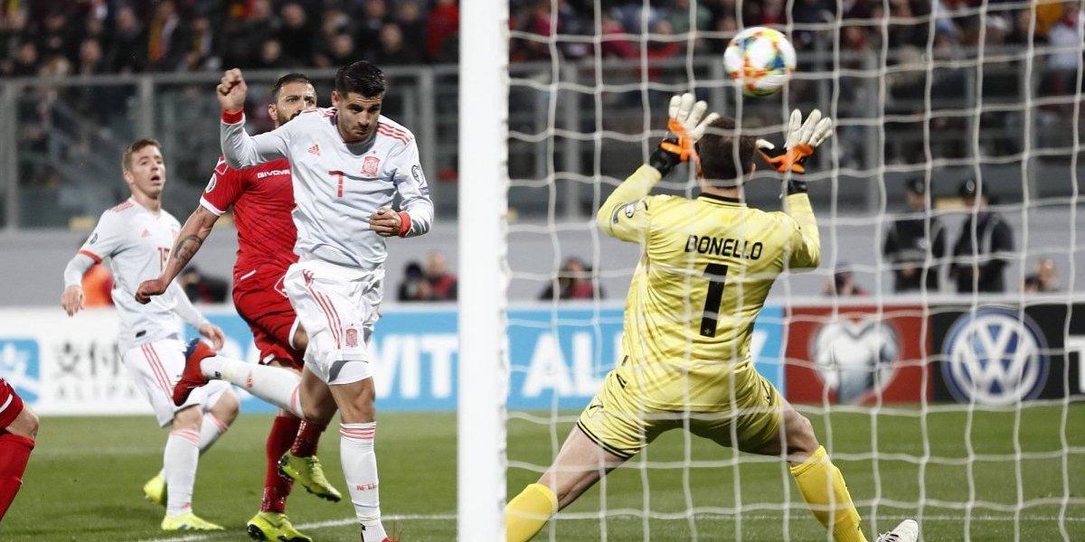 Álvaro Morata 'revive' y le otorga triunfo a España rumbo a la Eurocopa 2020