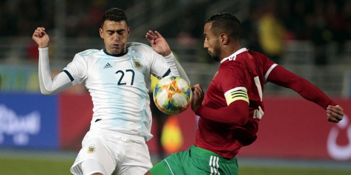 Sin Messi, Argentina sufre para derrotar a Marruecos