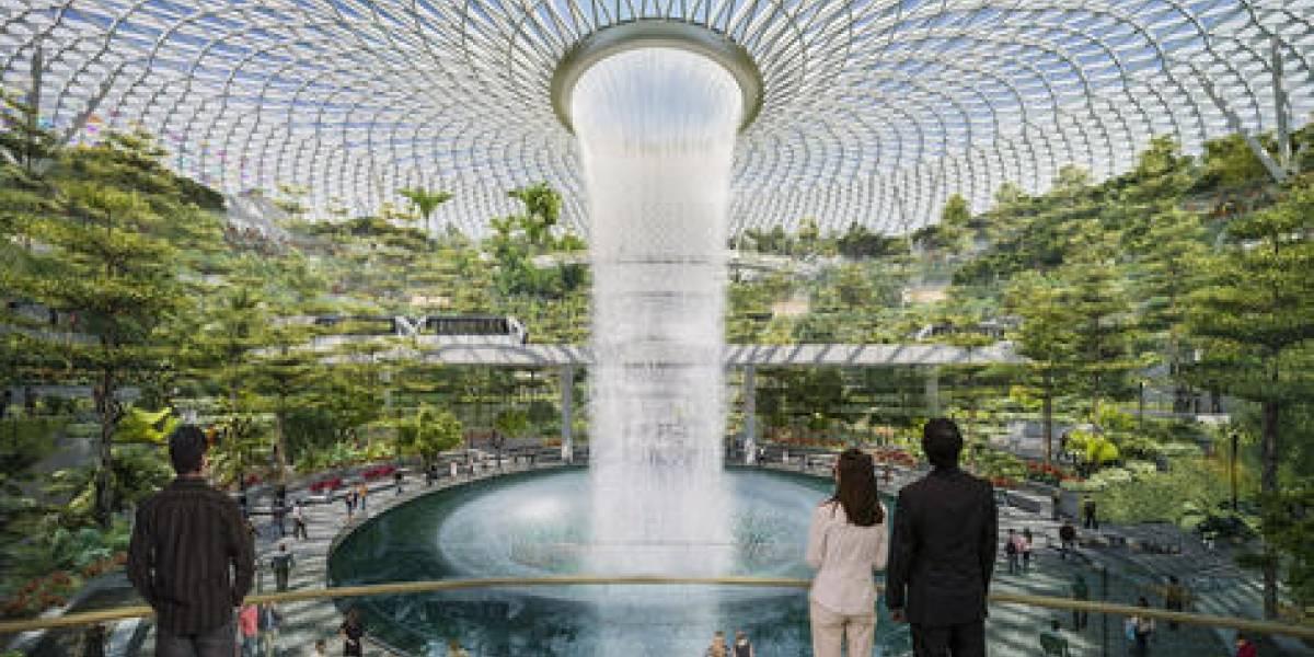 Cascada gigante adornará aeropuerto