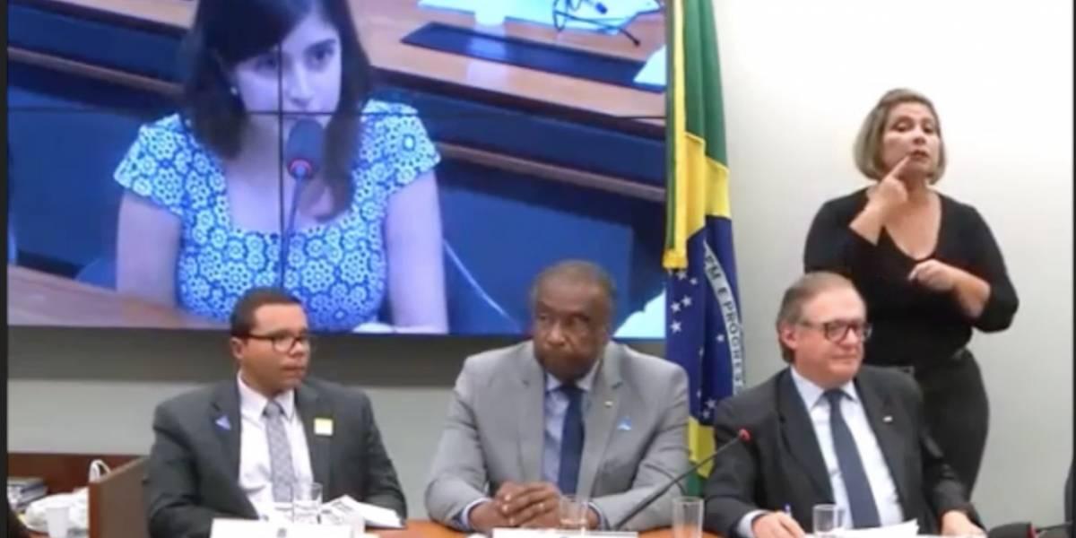 Deputada Tabata Amaral critica despreparo de Vélez em 'sermão' na Câmara