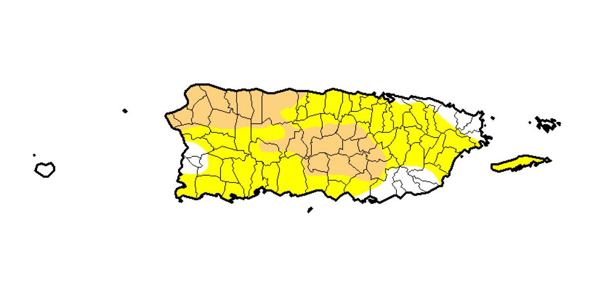 Mayoría de Puerto Rico continúa bajo sequía anómala o moderada