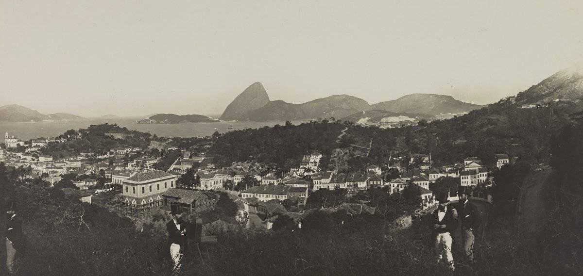 Panorama parcial do Rio de Janeiro (1885) Acervo IMS/Divulgação