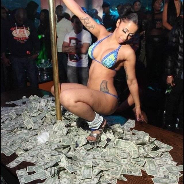 Cardi B cuando era stripper